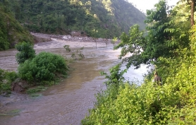 High Flood and Damages near Khimti Besi
